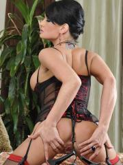 Pictures of Tory Lane dressed up in red and black lingerie and ready to fuck
