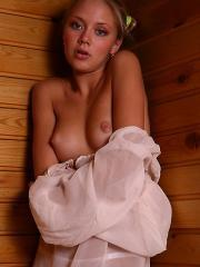 Pictures of Maddie stripping in a sauna