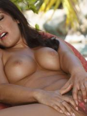 Eva Lovia loves to finger her wet pussy really hard