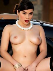 Valentina Nappi loves touching herself in her vintage car