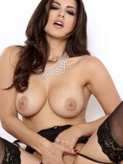 Pictures of Sunny Leone exposing her gorgeous big breasts and pussy