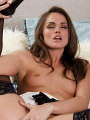 Tori Black invites you into her bedroom and shows you her tight pink