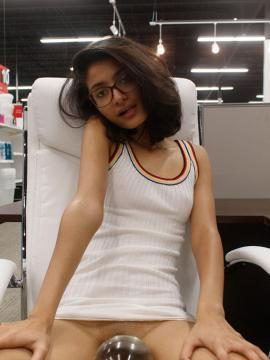 Freaky coed Ushna Malik teasing in Taking Care of Business